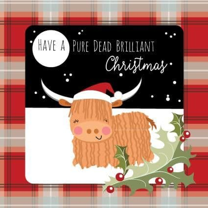 Pink Pig - Pure Dead Brilliant Christmas - Card