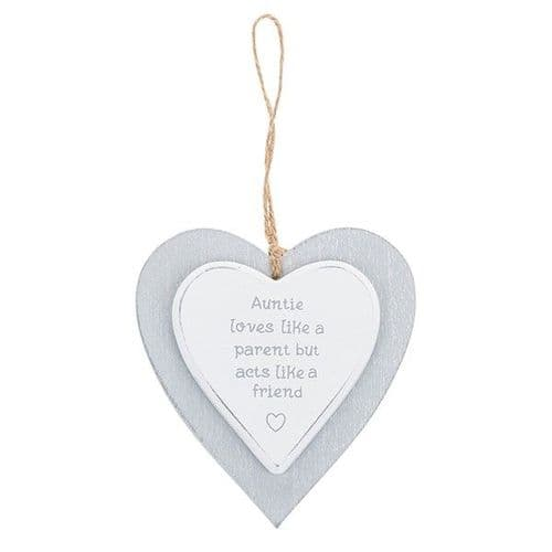 Provence - Cool Grey Hanging Heart - Auntie (725)