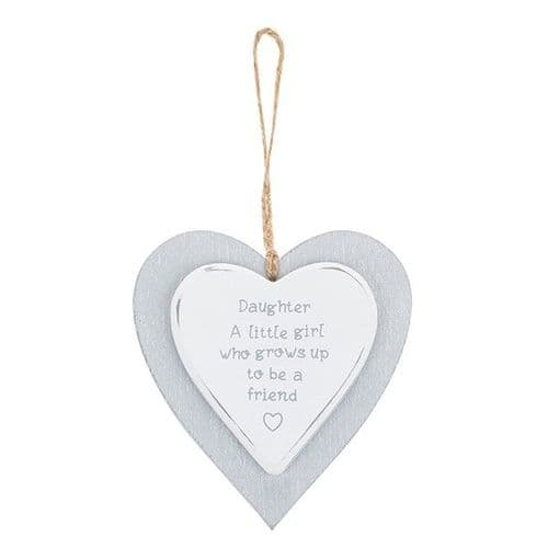 Provence - Cool Grey Hanging Heart - Daughter (723)