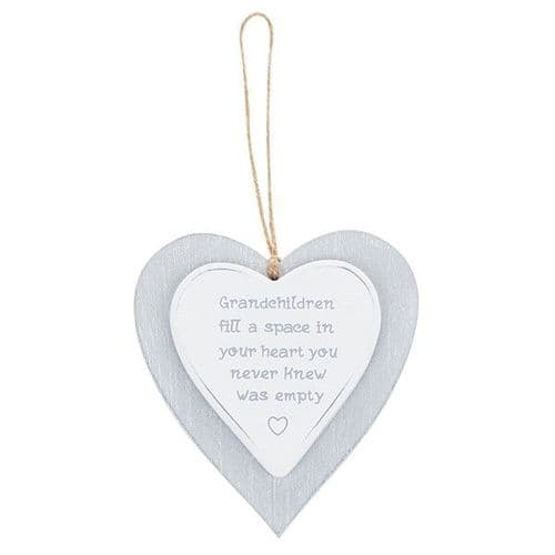 Provence - Cool Grey Hanging Heart - Grandchildren (724)