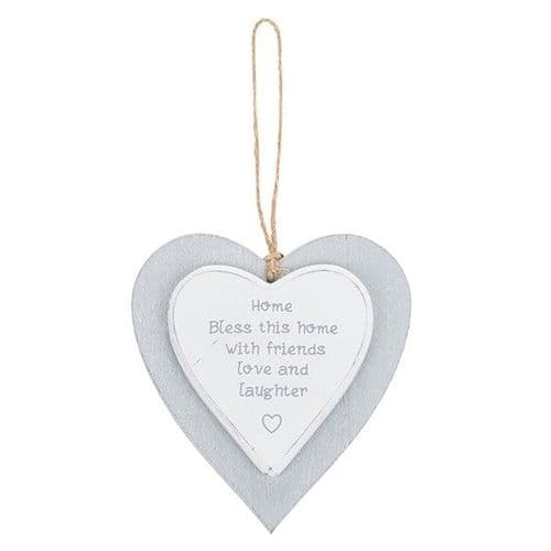 Provence - Cool Grey Hanging Heart - Home (734)