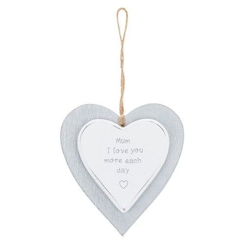 Provence - Cool Grey Hanging Heart - Mum (720)