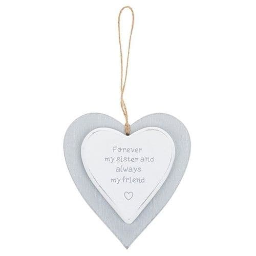 Provence - Cool Grey Hanging Heart - Sister (722)