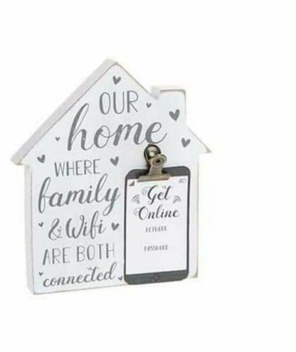 Rustic House Block - Wifi Password Family