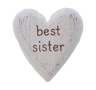 Sass & Belle - Best Sister heart token