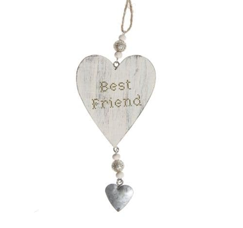 Sass & Belle- Hanging Heart - Best Friend