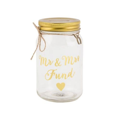 Sass & Belle - Mr & Mrs Fund Money Jar