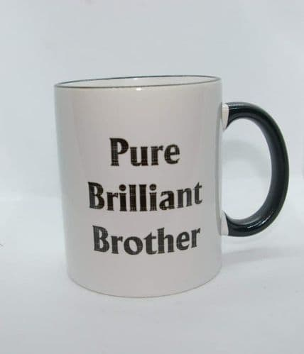 Scottish - Black Tartan Words Mug - Pure Brilliant Brother