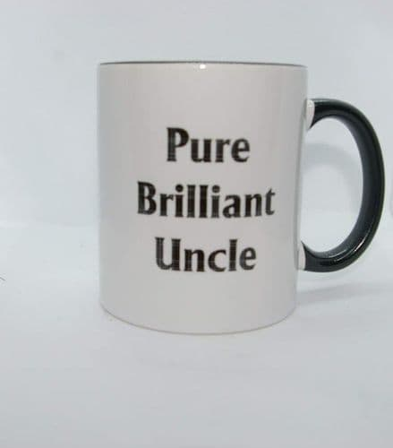 Scottish - Black Tartan Words Mug -Pure Brilliant Uncle