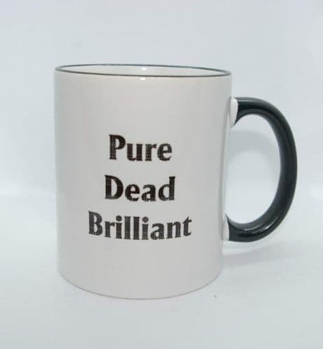 Scottish - Black Tartan Words Mug - Pure Dead Brilliant