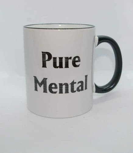 Scottish - Black Tartan Words Mug - Pure Mental