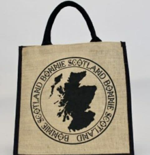Scottish Shopper Juco Bag - Scotland Map