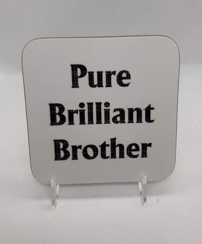Scottish - Tartan Words Coaster - Pure Brilliant Brother
