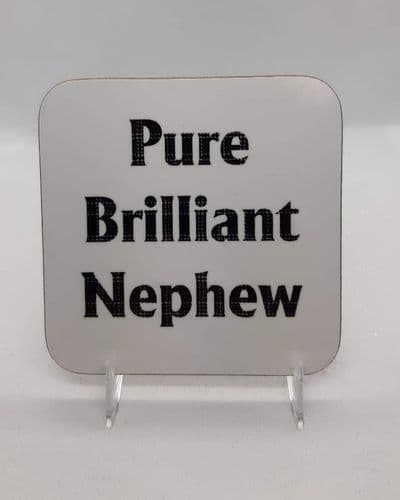 Scottish - Tartan Words Coaster - Pure Brilliant Nephew