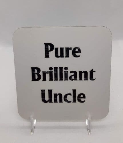 Scottish - Tartan Words Coaster - Pure Brilliant Uncle