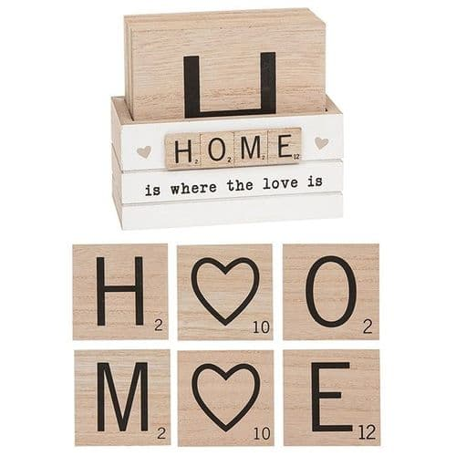 Scrabble Coasters Set Of 6 - Home (297330)