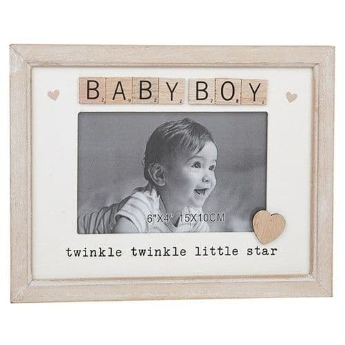 Scrabble Sentiment Frame - Baby Boy (274)