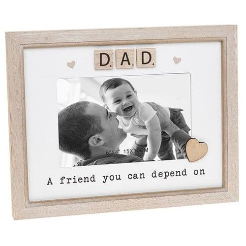 Scrabble Sentiment Frame - Dad (682)