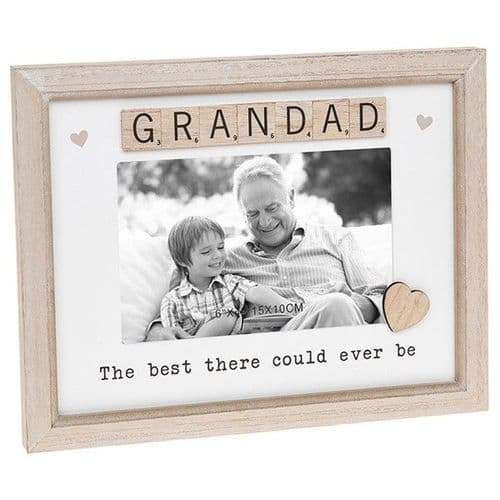 Scrabble Sentiment Frame - Grandad (683)