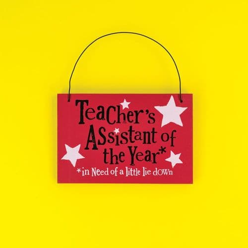 The Brightside - Teacher's Assistant Of The Year Plaque
