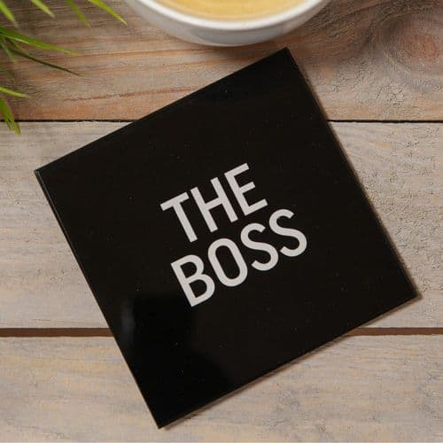 The Office - Glass Coaster - Boss