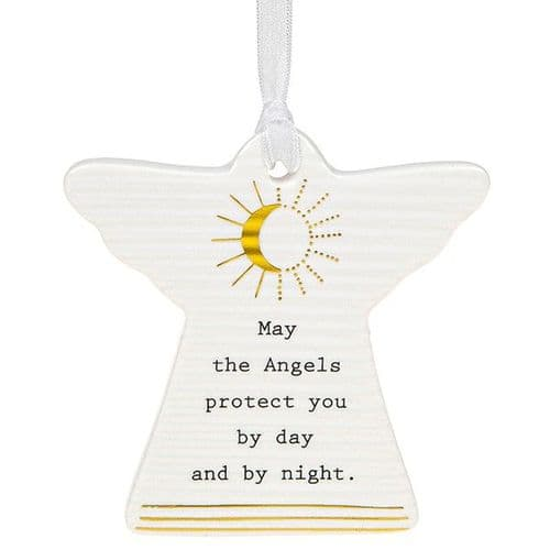 Thoughtful Words - Ceramic Angel - Angels Protect (461)