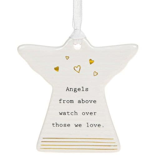 Thoughtful Words - Ceramic Angel - Angels Watch (451)