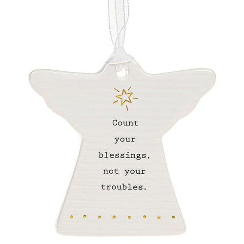 Thoughtful Words - Ceramic Angel Blessings/Troubles (454)