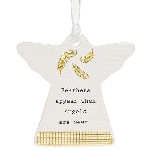 Thoughtful Words - Ceramic Angel - Feathers Appear (460)