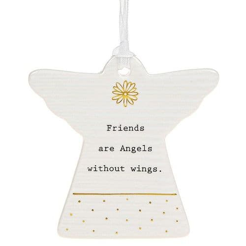 Thoughtful Words - Ceramic Angel - Friends  Angels (452)