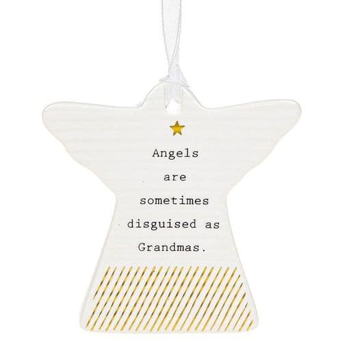 Thoughtful Words - Ceramic Angel - Grandmas (459)