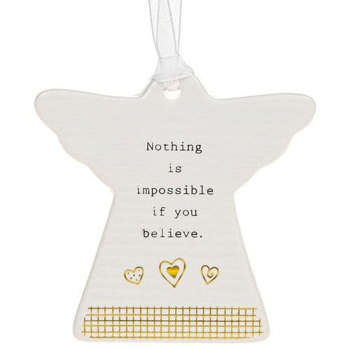 Thoughtful Words - Ceramic Angel - Nothing Impossible (455)