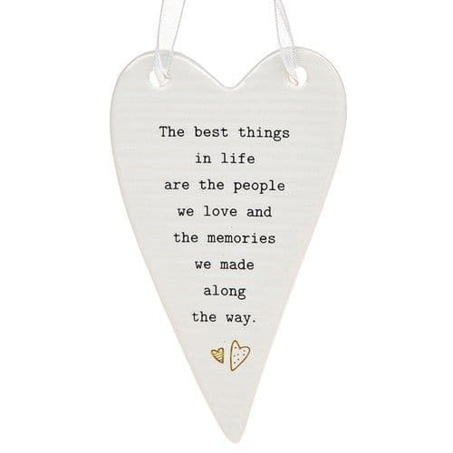 Thoughtful Words - Ceramic Heart - Best Things (432)
