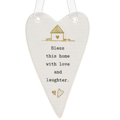 Thoughtful Words - Ceramic Heart - Bless This Home (440)