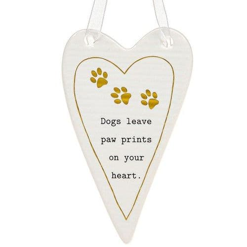 Thoughtful Words - Ceramic Heart - Dogs (436)