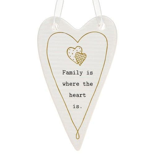 Thoughtful Words - Ceramic Heart Family (435)