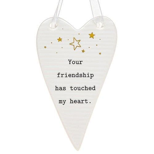 Thoughtful Words - Ceramic Heart - Friendship (438)