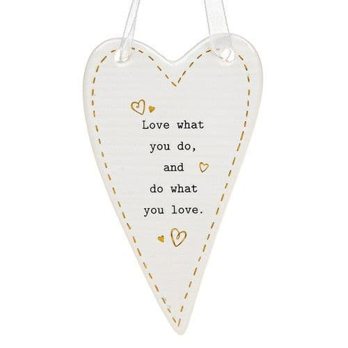 Thoughtful Words - Ceramic Heart - Love (434)