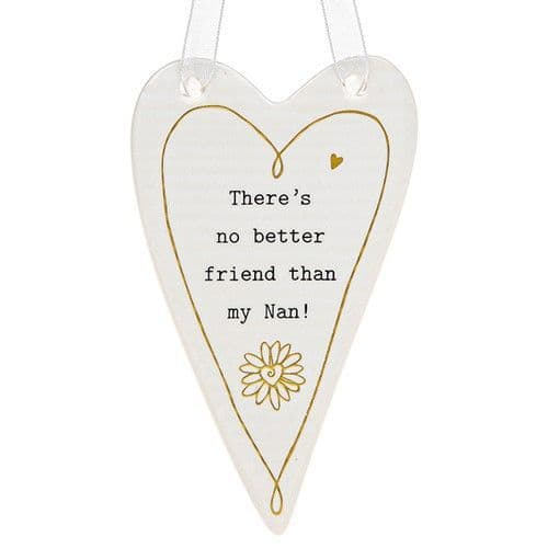 Thoughtful words - Ceramic Heart - Nan (441)