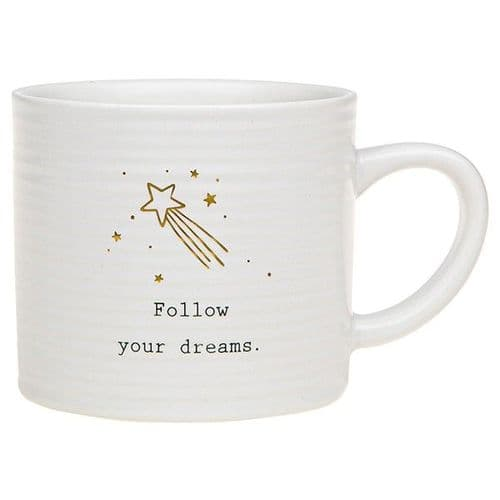 Thoughtful Words - Ceramic Mug - Follow Your Dreams (500)