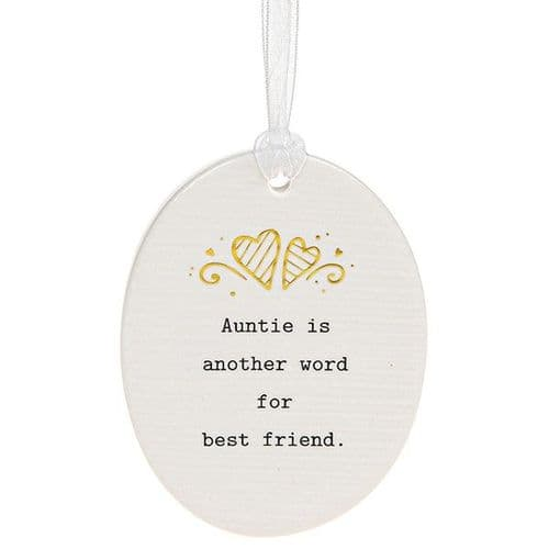 Thoughtful Words - Ceramic Oval - Auntie (476)