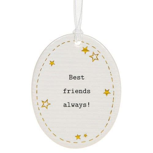 Thoughtful Words - Ceramic Oval - Best Friends (475)