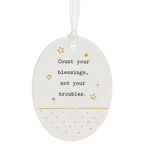 Thoughtful Words - Ceramic Oval - Blessings (472)