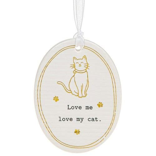 Thoughtful Words - Ceramic Oval - Cat (479)