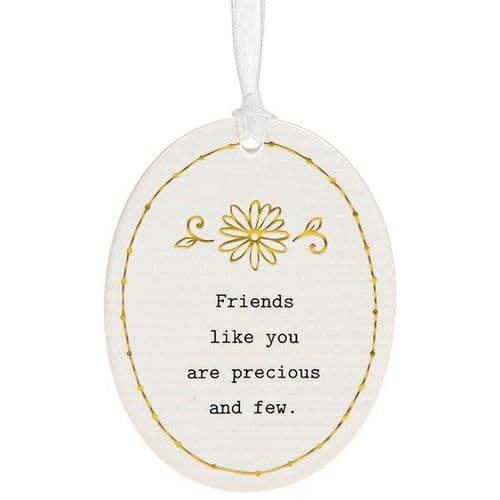 Thoughtful Words - Ceramic Oval - Friends (473)