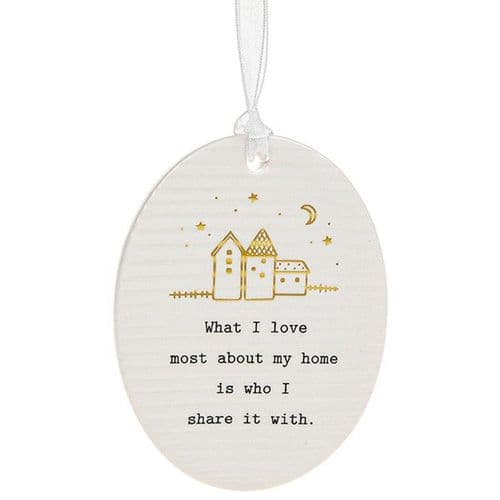 Thoughtful Words - Ceramic Oval - Home (471)