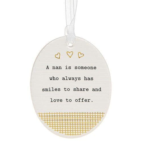 Thoughtful Words - Ceramic Oval - Nan (478)