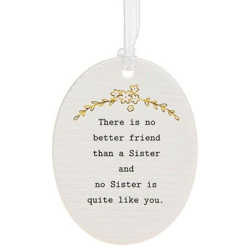 Thoughtful Words - Ceramic Oval - Sister (474)