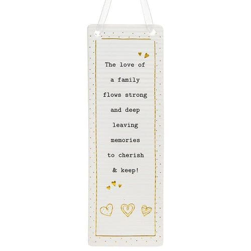 Thoughtful Words - Ceramic Rectangle - Family (414)
