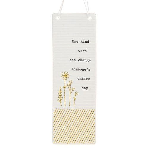 Thoughtful Words - Ceramic Rectangle - One Kind Word (411)